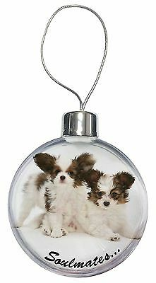 Papillon Puppy Dog 'Soulmates' Christmas Tree Bauble Decoration Gift, SOUL-44CB