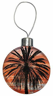 Tropical Palm Sunset Christmas Tree Bauble Decoration Gift, SUN-3CB