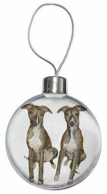Whippet Dogs Christmas Tree Bauble Decoration Gift, AD-WH91CB