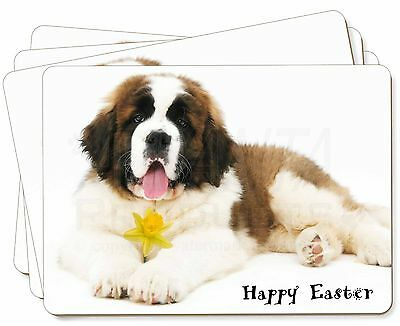 'Happy Easter' Saint Bernard Picture Placemats in Gift Box, AD-SBE5DA1P