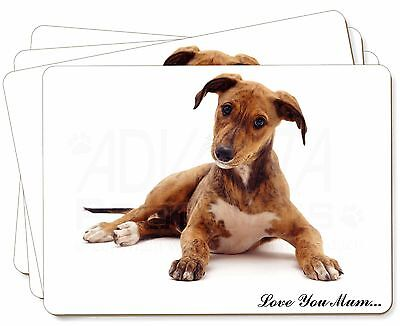 Lurcher Dog 'Love You Mum' Picture Placemats in Gift Box, AD-LU2lymP
