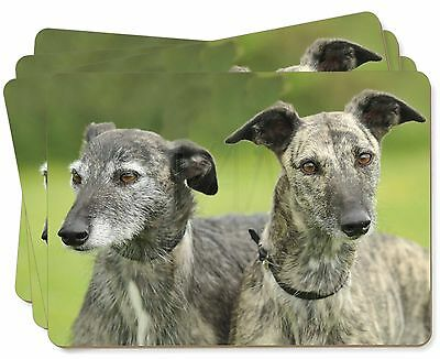 Lurcher Dog Print Picture Placemats in Gift Box, AD-LU5P