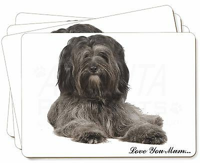 Tibetan Terrier 'Love You Mum' Picture Placemats in Gift Box, AD-TT2lymP
