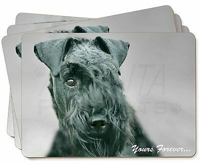 Kerry Blue Terrier 'Yours Forever' Picture Placemats in Gift Box, AD-KB1yP
