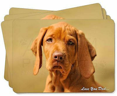 Hungarian Vizsla 'Love You Dad' Picture Placemats in Gift Box, DAD-126P