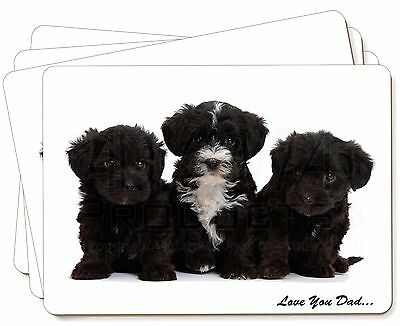 Yorkipoo Pups 'Love You Dad' Picture Placemats in Gift Box, DAD-139P
