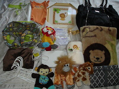 HUGE ~ NEUTRAL ~ Baby Boy or Girl LOT ~ 0-3-6 M ~ Jungle ~ Carter's Diaper Bag