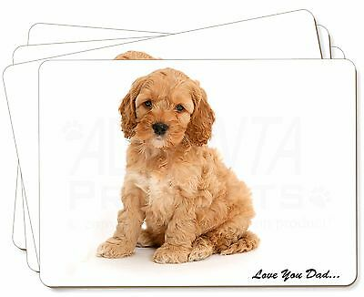 Cockerpoodle 'Love You Dad' Picture Placemats in Gift Box, DAD-19P