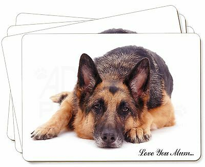German Shepherd 'Love You Mum' Picture Placemats in Gift Box, MUM-D6P