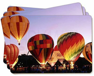 Hot Air Balloons at Night Picture Placemats in Gift Box, SPO-B2P