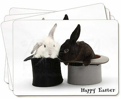 Top Hat Rabbits 'Happy Easter' Picture Placemats in Gift Box, AR-7EAP