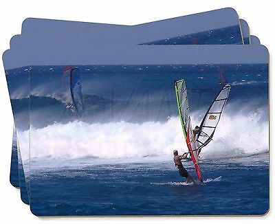 Wind Surfers Surfing Picture Placemats in Gift Box, SPO-WS3P
