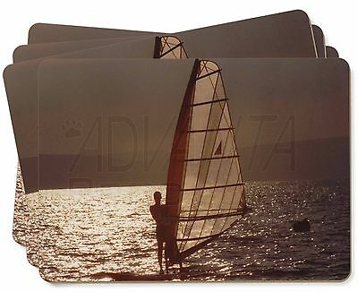Wind Surfing Picture Placemats in Gift Box, SPO-WS4P
