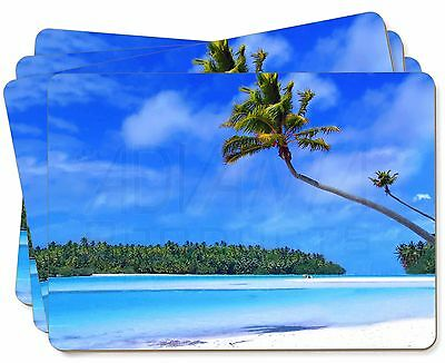 Tropical Paradise Beach Picture Placemats in Gift Box, W-6P