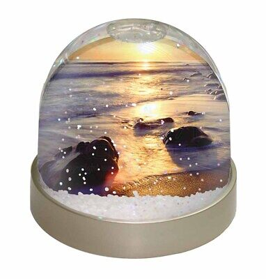 Secluded Sunset Beach Photo Snow Globe Waterball Stocking Filler Gift, SUN-1GL