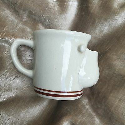 Vintage Old Fashioned Shaving Mug Cup with Stripes