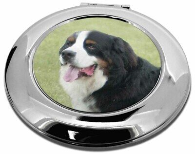 Bernese Mountain Dog Make-Up Round Compact Mirror Christmas Gift, AD-BER1CMR