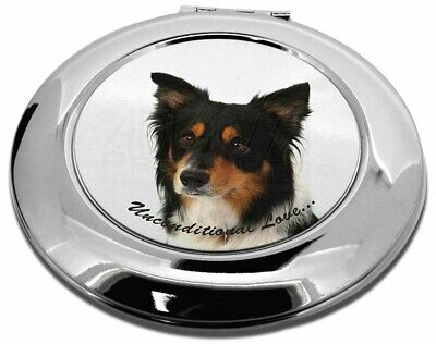 Tri-Colour Border Collie-Love Make-Up Round Compact Mirror Christma, AD-CO33uCMR
