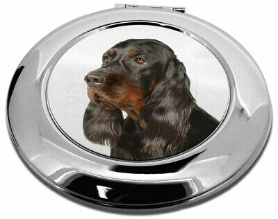 Gordon Setter Dog Make-Up Round Compact Mirror Christmas Gift, AD-GOR1CMR