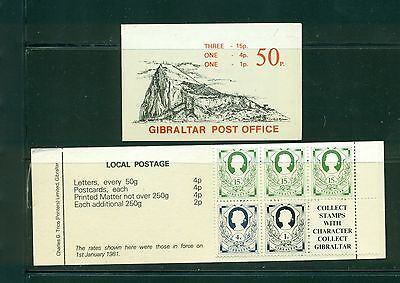 Gibraltar 1981 50p booklet with pane of #407b