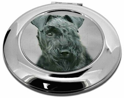 Kerry Blue Terrier Dog Make-Up Round Compact Mirror Christmas Gift, AD-KB1CMR