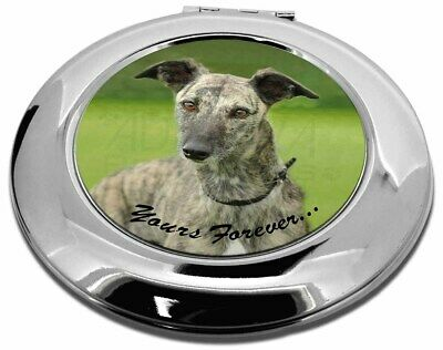 Greyhound Dog 'Yours Forever' Make-Up Round Compact Mirror Christmas, AD-LU7yCMR