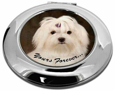 Maltese Dog 'Yours Forever' Make-Up Round Compact Mirror Christmas Gi, AD-M1yCMR