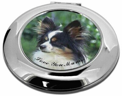 Papillon Dog 'Love You Mum' Make-Up Round Compact Mirror Christma, AD-PA62lymCMR