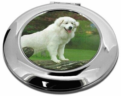 Pyrenean Mountain Dog Make-Up Round Compact Mirror Christmas Gift, AD-PM1CMR