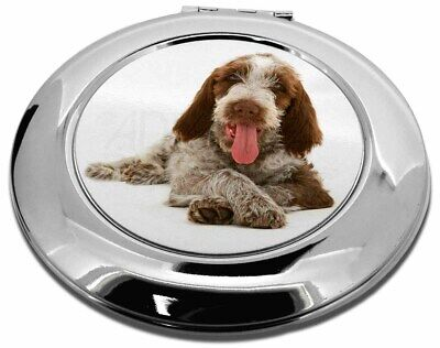 Italian Spinone Dog Make-Up Round Compact Mirror Christmas Gift, AD-SP2CMR