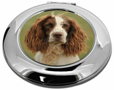 Springer Spaniel Dog Make-Up Round Compact Mirror Christmas Gift, AD-SS77CMR