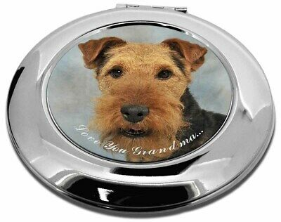 Welsh Terrier 'Love You Grandma' Make-Up Round Compact Mirror Chri, AD-WT1lygCMR
