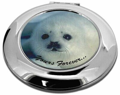 Snow Seal 'Yours Forever' Make-Up Round Compact Mirror Christmas Gift, AF-S14CMR