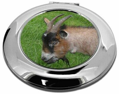 Cheeky Goat Make-Up Round Compact Mirror Christmas Gift, AGO-1CMR