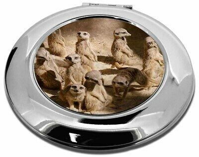 Meerkats Make-Up Round Compact Mirror Christmas Gift, AMK-1CMR