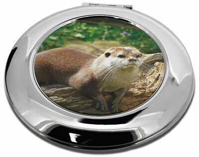 River Otter Make-Up Round Compact Mirror Christmas Gift, AO-2CMR