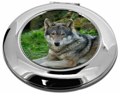 A Gorgeous Wolf Make-Up Round Compact Mirror Christmas Gift, AW-11CMR