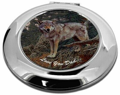 Mountain Wolf 'Love You Dad' Make-Up Round Compact Mirror Christmas , DAD-150CMR