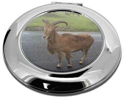Cute Nanny Goat Make-Up Round Compact Mirror Christmas Gift, GOAT-1CMR