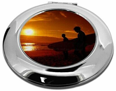 Sunset Surf Make-Up Round Compact Mirror Christmas Gift, SPO-S1CMR