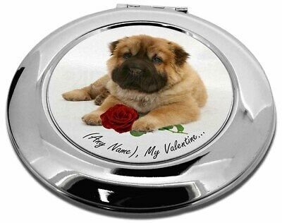 Personalised (Any Name) Make-Up Round Compact Mirror Christmas Gift, VAD-SH2RCMR