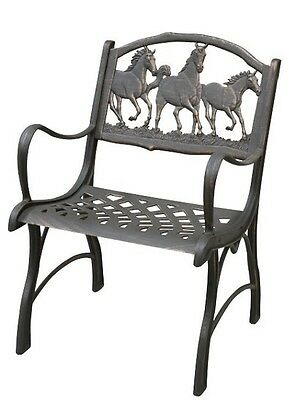 Cast Iron Chair - Running Horses