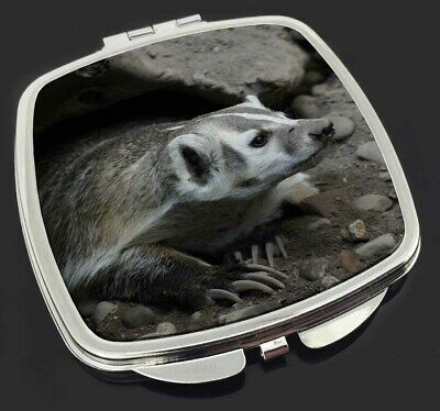 Badger on Watch Make-Up Compact Mirror Stocking Filler Gift, ABA-2CM