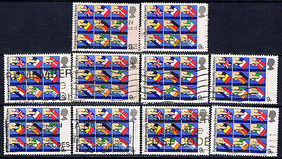 Great Britain #859(1) 1979 9 pence Flags of Member Nations as Ballots 10 Used