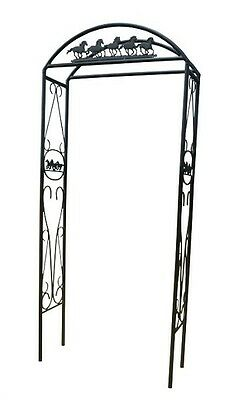 Cast Iron/Tube Steel Garden Arch - Running Horses