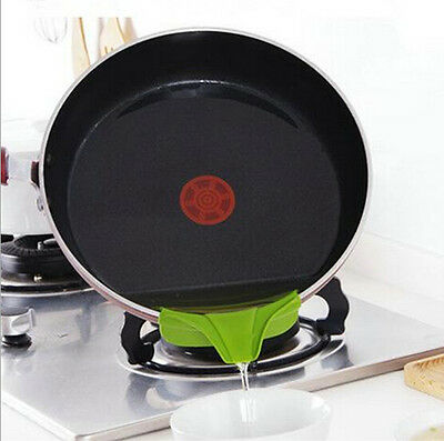 Anti-spill Tool drain deflector pans Pot Deflector Silicone Round Funnel