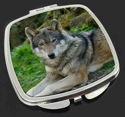 A Gorgeous Wolf Make-Up Compact Mirror Stocking Filler Gift, AW-11CM