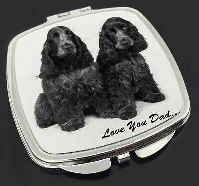 Cocker Spaniels 'Love You Dad' Make-Up Compact Mirror Stocking Filler, DAD-102CM