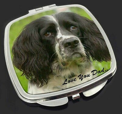 Springer Spaniel Dogs 'Love You Dad' Make-Up Compact Mirror Stocking , DAD-117CM