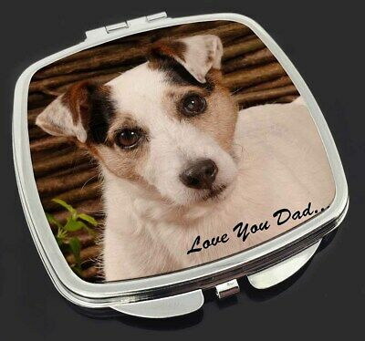 Jack Russell Dog 'Love You Dad' Make-Up Compact Mirror Stocking Fille, DAD-176CM